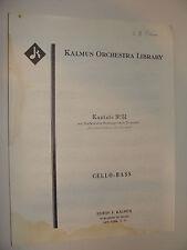 J S Bach Kantate No 51 for Cello & Bass Jauchzet Gott in Allen Lauder