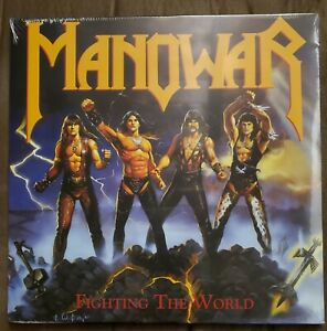 Manowar Fighting The World (Vinyl LP, 1987, 2019) Rare