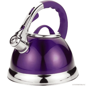 3.5L STAINLESS STEEL WHISTLING KETTLE GAS ELECTRIC CERAMIC HOBS PURPLE KETTLE