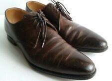Crockett Jones Brown Leather Derby Shoes UK 9E, EU 43