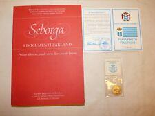 Principato di SEBORGA I documenti parlano 2000 + Passaporto + Moneta GIORGIO I°