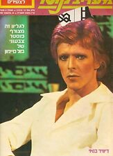 David Bowie ON COVER 1980 ISRAELI HEBREW MAGAZIN RARE