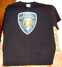 """POLICE DEPARTMENT, CITY OF NEW YORK"" T-SHIRT>BLUE>LARGE>NEW>FREE U.S. SHIPPING"