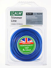 ALM 1.5mm x 15M Blue Trimmer Strimmer Line Wire Cord Flymo/Bosch SL215
