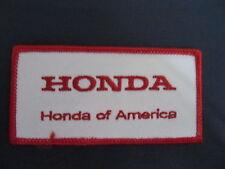Vintage Honda America  Motorcycle Biker Vest Jacket Hat Patch Crest Dirt Bike BB
