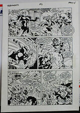 JACK KIRBY'S TEENAGENTS #3 PAGE 15 1993 ORIGINAL ART-NEIL VOKES & JOHN BEATTY Comic Art
