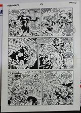 JACK KIRBY'S TEENAGENTS #3 PAGE 15 1993 ORIGINAL ART-NEIL VOKES & JOHN BEATTY