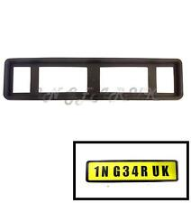 Heavy Duty Black Rubber License Number Plate Protector Surround Holder Frame