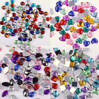 500-1000Pcs Crystal Acryl Rhinestone Half Round Flatback Beads Gems 4/6mm