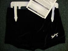 Gk Elite Gymnastics Shorts Black Velvet Axs As Am Al Axl 10 12 14 16 18