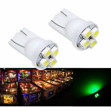 30x #555 T10 4SMD LED Pinball Machine Light Bulb Green 6.3V P2