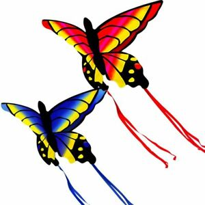 HENGDA KITE Amazing Colorful Butterfly Kite in Red and in Blue with Flying Tools