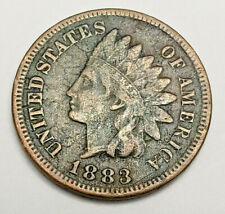 1883 P Indian Head Cent Penny  *F - FINE*   **FREE SHIPPING**