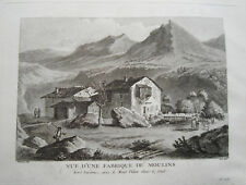 Berg Pilatus bei Luzern Mühle   Schweiz  Kupferstich Zurlauben 1780 selten 2