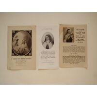 ENSEMBLE de 3 IMAGES PIEUSES : SAINTE THERESE de L'ENFANT JESUS, NEUVAINE - PRIÈ