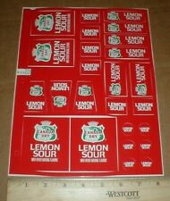 25 Canada Dry Lemon Sour Cola original old 1970s ? Drink Machine Decal Stickers