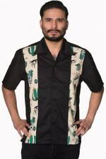Men's Banned Rockabilly 50s Western Desert Skull Cotton Shirt