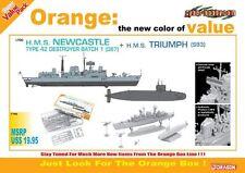 1/700 HMS Newcastle (D87) Type 42 + HMS Triumph (S93) - Orange CyberHobby #7106