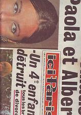 ici paris  11/1970 No1324 paola et albert : reconciliation - madame de gaulle -