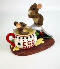 """Charming Tails by Fitz and Floyd """"Dive Into .Holidays """" Item: 87/208 Eggnog"""