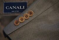 Canali Brown Woven 100% Wool Sport coat Jacket Sz 44L