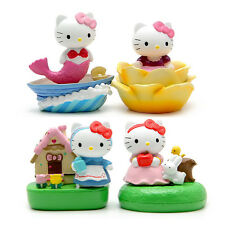 4pcs Hello kitty Anime action figure PVC Toys cake decoration Gifts