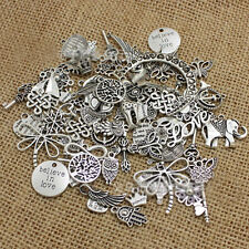 100 Grams MIX Silver Gold Bronze Alloy Pendants Fashion Charm Jewelry
