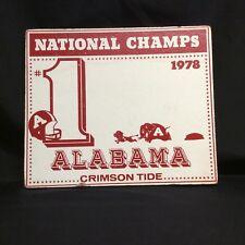 Vintage 1978 Alabama Crimson Tide Memorabilia Bundle