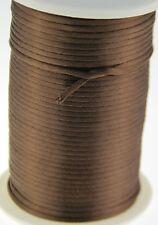 brown 2MM Rattail Satin Cord Macrame Beading Nylon kumihimo String DIY 10yds
