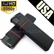 HD Mini DV Lighter Hidden Spy Cam Camera Nanny DVR Video Recorder Black 1080p