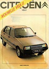 Catalogue publicitaire CITROEN VISA 1981 special club super x e