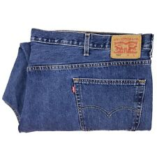 Levis 550 Jeans 56x31 Blue Mens Size Cotton Denim Jean Relaxed Fit Stonewash Man