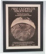 MIKE OLDFIELD*Hergest Ridge*1974*RARE*ORIGINAL*POSTER*AD*FRAMED*FAST WORLD SHIP