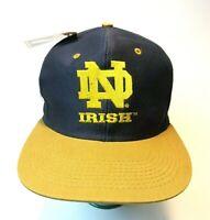 NOS VTG 90's Notre Dame Fighting Irish Snapback Hat NEW W/ Tag LOGO 7