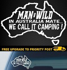 Camping Sticker 4x4 Caravan Decal Funny Car Boat Fishing Fridge Trailer