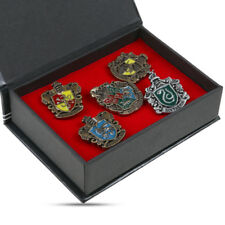 5PCS Abzeichen Hogwarts Haus Harry Potter Schule Brosche Pin Geschenk Box HOT