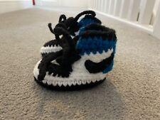 Baby Nike Jordan 1 Azul Real De Ganchillo Bebé Cuna Bota UK 1 10cm