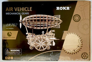 3D Wooden Puzzle Model By ROKR, LK702, Air Vehicle, Operated By Spring