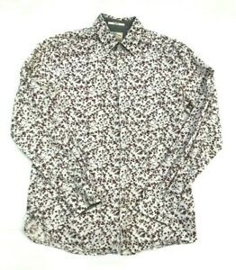 WHITE STUFF GENTLEMENS RELISH SLIM FIT MENS FLORAL SHIRT SIZE  SMALL