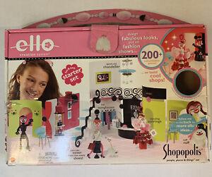Mattel ELLO Creation/Building Set LOT - Shopopolis Incomplete