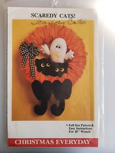 Scaredy Cats Halloween Craft, Sewing Pattern by Christmas Everyday