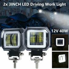 2X Phare de Travail Barre à LED Angle Eyes Feux Projecteur Offroad 4x4 JEEP 12V