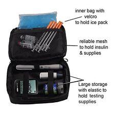 Diabetic Insulated Travel Case Freezer Pack Insulin Supplies Organizer Bag Kit