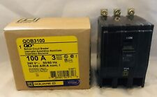 Nib Square D Qob3100 100 Amp 100A 3 Pole 240V Qob 10kA Circuit Breaker Bolt On