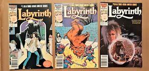 Labyrinth #1-3 complete 1986 Marvel movie adaptation Jim Henson David Bowie