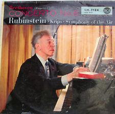 "beethoven emperor concerto no. 5 ARTUR RUBINSTEIN Josef Krips 12 "" LP (c493)"