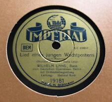 Wilhelm Lang - Lili Marleen Lied eines jungen Wachtpostens / Ich schreibe...