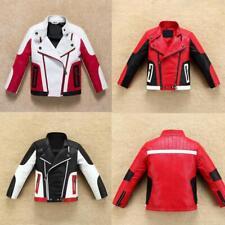 Boy Thick Faux Leather Jacket Warm Coat Biker Casual Outerwear Zipper 2-14 years
