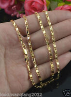 Awesome 18K Yellow Gold Chain Necklace Link Chain Wedding Party Jewerly 20""