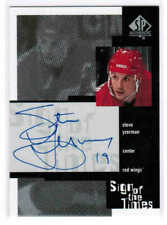 99/00 SP AUTHENTIC STEVE YZERMAN SY SIGN OF THE TIMES AUTO DETROIT RED WINGS